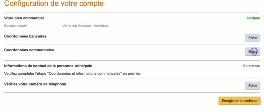 Création compte vendeur Amazon